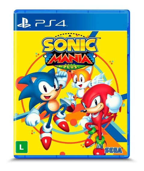 Sonic Mania Plus - Ps4 - Mídia Fìsica