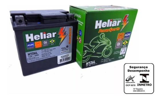 Bateria Moto Nxr 150 Bros Heliar Htz6 Original Honda