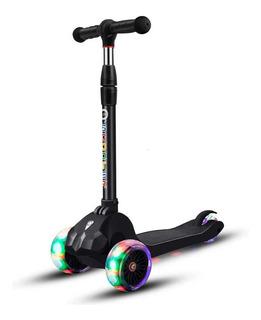Scooter Plegable Desmontable Deluxe 3 Ruedas Iluminadas