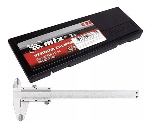 Paquímetro Aço Inox Universal Analogico Manual 150mm