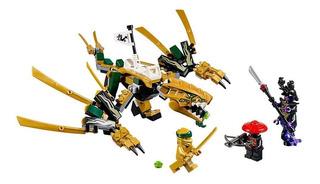 Juguete Lego Ninjago 70666 Dragón Dorado 171 Piezas Original