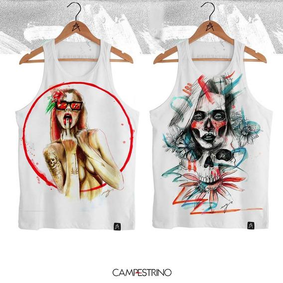 2 Regatas Caveiras, Sexy Girl E Los Muertos, Tam P