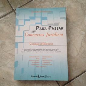 Livro Para Passar Em Concursos Jurídicos Caderno De Resposta