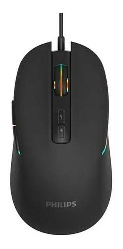 Imagen 1 de 3 de Mouse de juego Philips  Momentum SPK9414 G414 negro