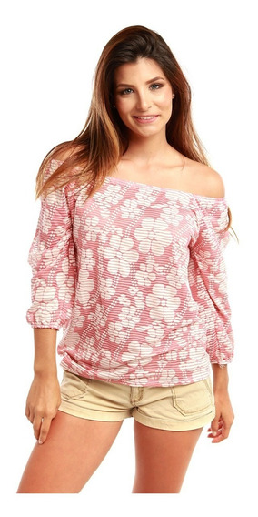 Blusa Divina Stretch Campesina Damas Rose Fashion