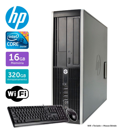 Computador Usado Hp Compaq 6200 I3 16gb 320gb Brinde