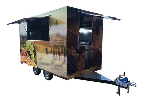 Trailer Food Truck Grande  4 M X 2 M - C/ Freio Zero Km