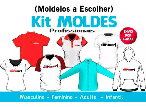 Kit 20 Moldes A Escolha - Camisetas - Moletons - Calçãs Etc.
