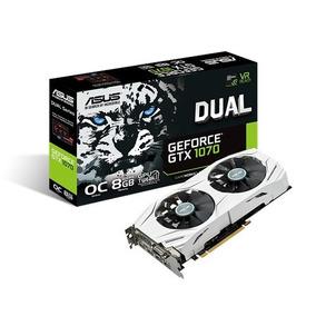 Placa De Video Pci-e 8gb Gtx 1070 256 Bit Ddr5 Asus Dual Oc