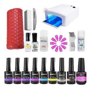 Kit Esmaltado Permanente Lámpara Uv 36w Uñas