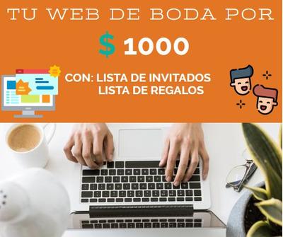 Páginas Web Para Bodas Y Eventos Especiales. Mediante Wix