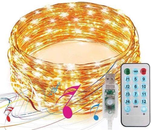 Luces Decorativas Control Remoto Tira Led 10m Sync Con Músic