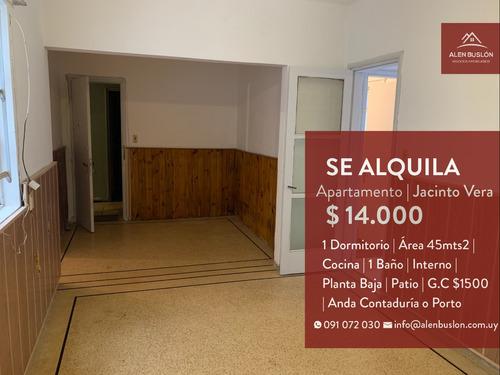 Apartamento Alquiler 1 Dormitorio Con Patio Planta Baja
