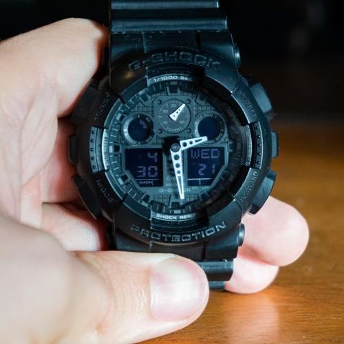 Casio G-shock Ga100 1a1dr - All Black - Frete Grátis