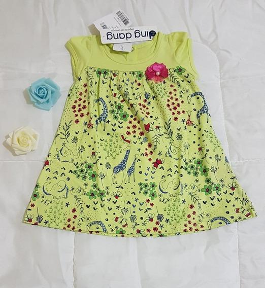 Vestido Menina Bebê Modinha Verão Promoção Qualidade Tam M