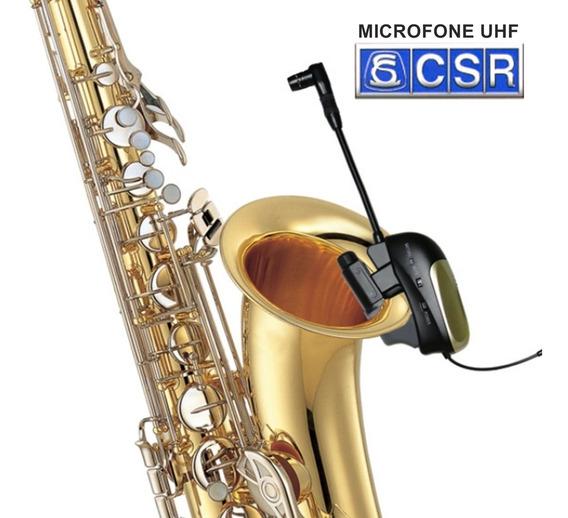 Microfone Sem Fio Para Saxofone Csr-st-1 Uhf