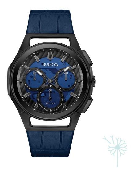 98a232 Reloj Bulova Curv Para Caballero Azul