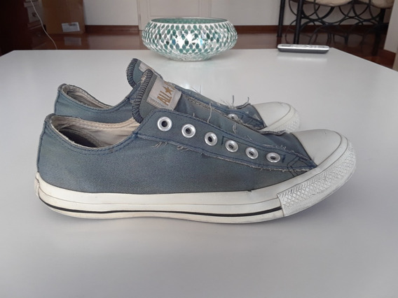 Zapatilla Converse All Star Slip Sin Cordon Original Cel/bco