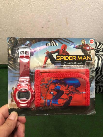 Relógio Infantil + Carteira Homem Aranha