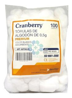 Tórulas Algodón De 1g Cranberry 100 U- Deltamed