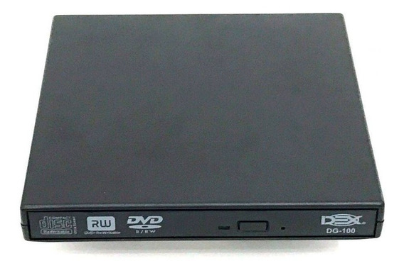 Drive Externo Slim Usb Gravador Leitor Cd Leitor Dvd Ultra