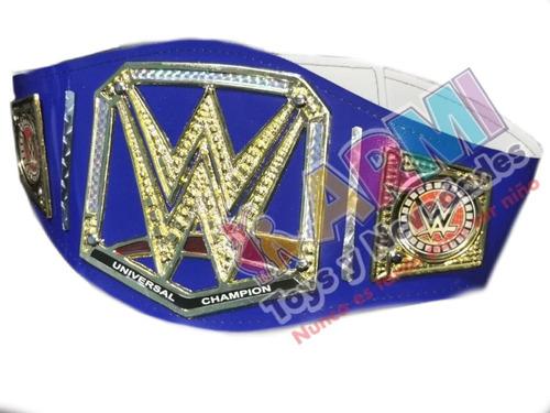Imagen 1 de 2 de Cinturón De Lucha Libre Wwe Azul Para Adulto