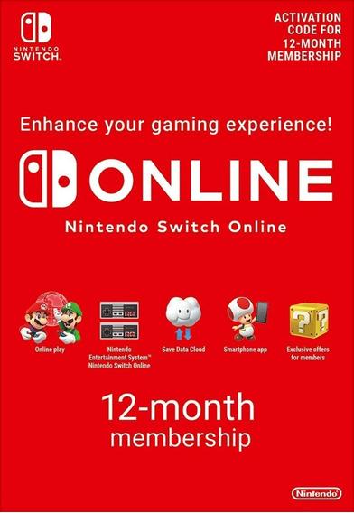 Assinatura Nintendo Switch Online - Membership 12 Meses