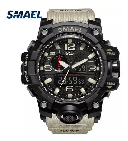 Relógio Masculino Militar Smael 1545 S-shock Original Novo