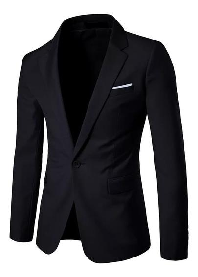 Blazer Slim Fit Luxo Casual Masculino Elegante Esporte Fino