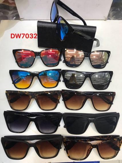Óculos De Sol Feminino Proteção Uva Quadrado Grande