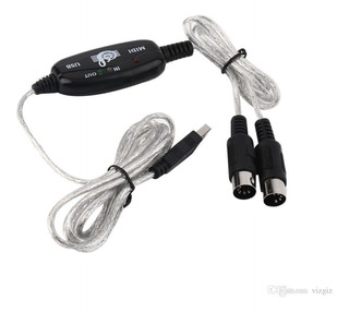 Interface Cable Midi Usb Teclado Controlador Pc Adaptador