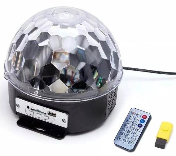 Bola Maluca Led Rgb Holográfico 20w Cystall Ball + Pen Drive