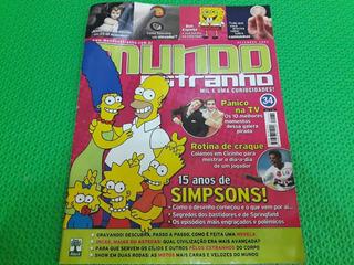 Revista Mundo Estranho Mil Uma Curiosidades 15anos Simpsons