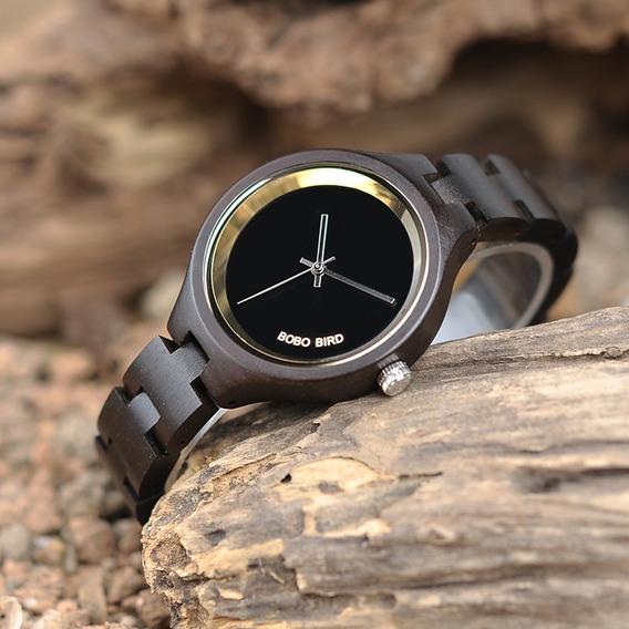 Relógio Feminino Bambu Analógico Bobo Bird P16 - Lindo!