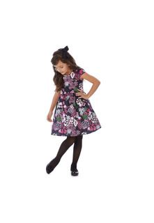 Vestido Infantil Hello Kitty Com Estampa Floral