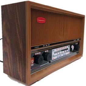 Rádio Antigo Caixa De Madeira Fm Am E Fm Estendida
