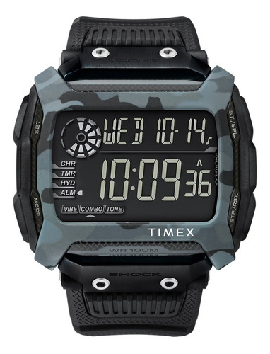 Relogio Timex Command Shock Azul Camuflado - Tw5m18200