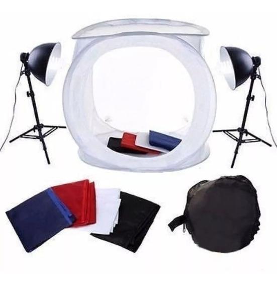 Kit Iluminação Mini Estúdio Fotográfico 40x40 Still Dslr 110