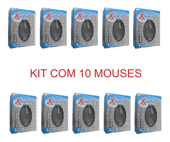 Kit 10 Mouse Sem Fio Otico Scroll