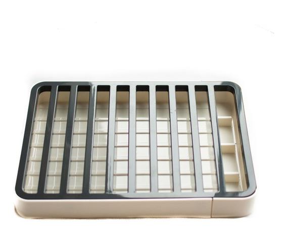 Secaplatos Plástico Net Blanco Y Gris C/ Cub 33 X 22 Cm