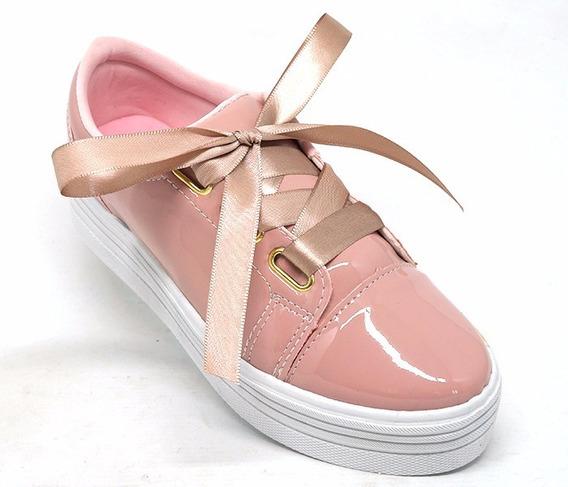 Tênis Feminino Doma Shoes Plataforma Rosê