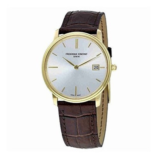 Frederique Constant Slim Line Light Gray Dial Yellow Gold-pl