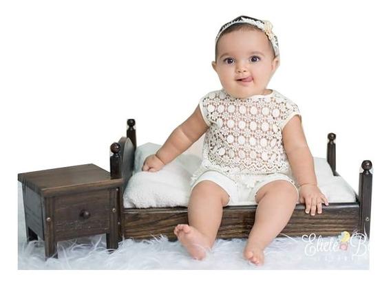 Cama Criadinho Prop Foto Newborn Acompanhamento Bebê