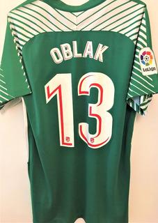 Camisa Do Atletico Madrid 2017/18 Goleiro Oblak #13 La Liga