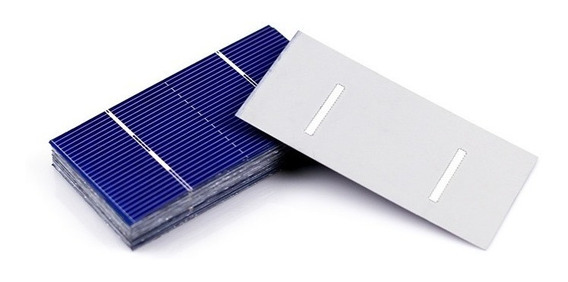 Kit 60 Celda Panel Solar 0.5 V 0.55 W 78x39mm