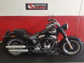 Harley Davidson Softail Fat Boy Flstf 2013 Preta Preto