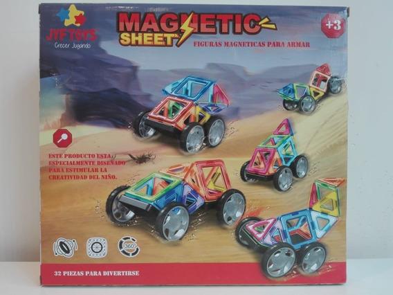 Bloques Imanes Didactico Magneticos Magnetic 32 Piezas