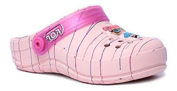 Babuche Infantil Feminino Grendene Kids Lol Colors Com Enfei