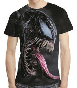 Camisa Filme Homem Aranha Camiseta Venom - Estampa Total 02