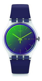 Reloj Swatch Polapurple Sumergible De Plastico Suok712